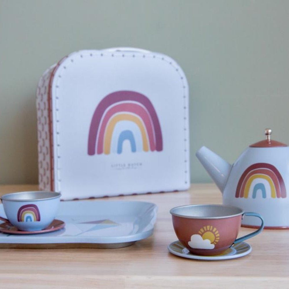 LITTLE DUTCH TEE SET IM KOFFER // REGENBOGEN - Sausebrause Shop