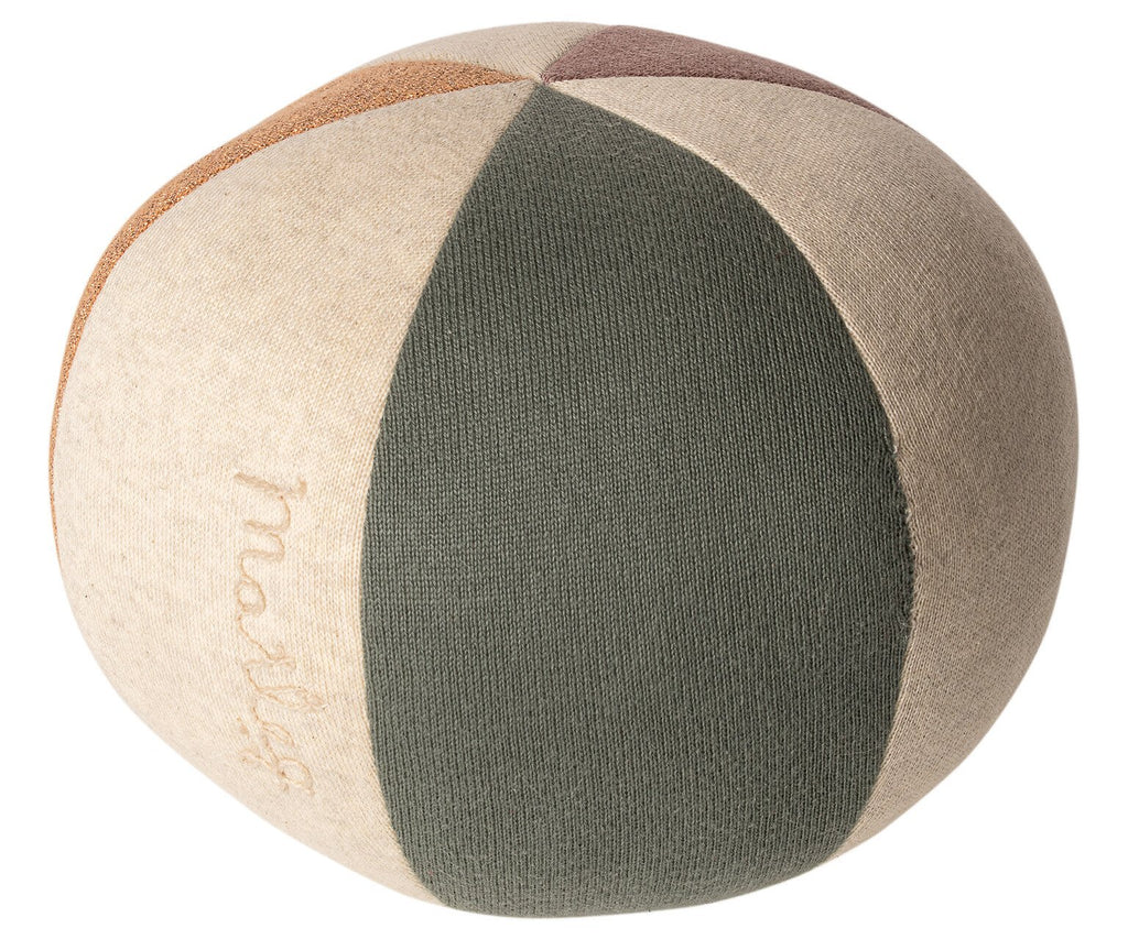 MAILEG SPIELBALL DUSTY GREEN / CORAL GLITTER - Sausebrause Shop