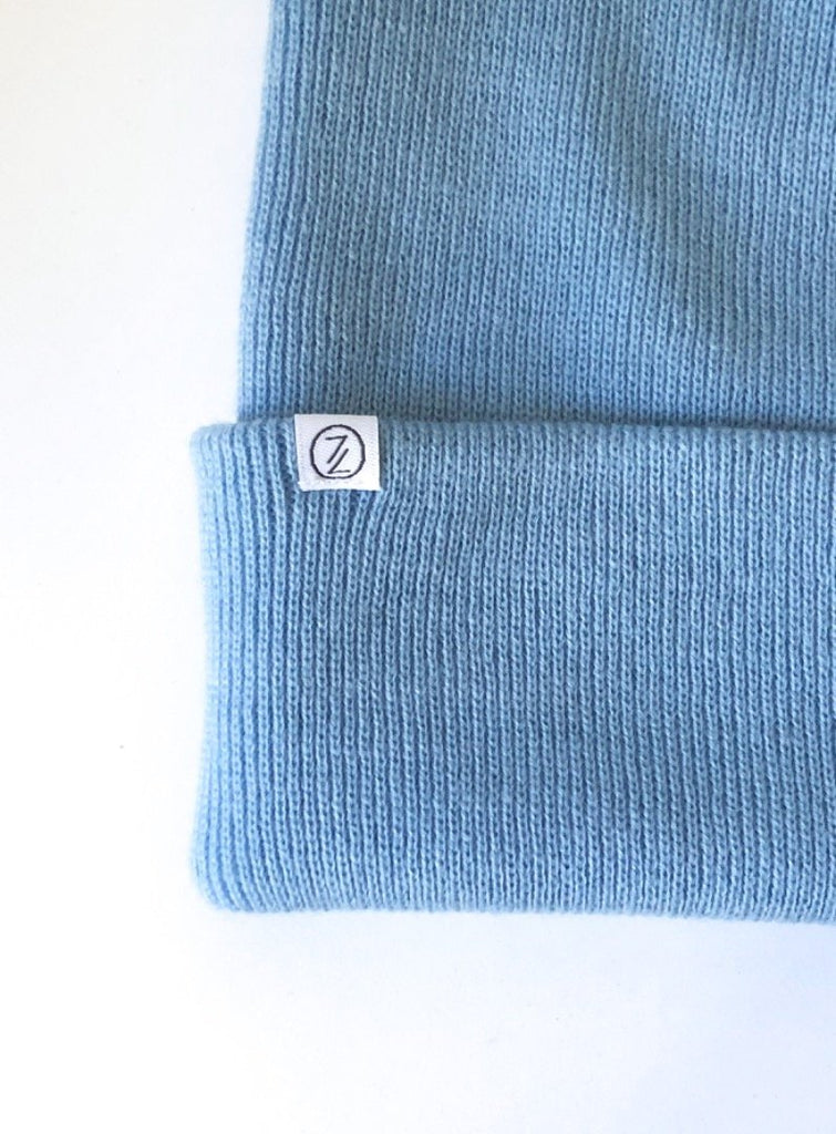 MIEN BERLIN STRICKBEANIE HIMMELBLAU MAMA + KIND - Sausebrause Shop