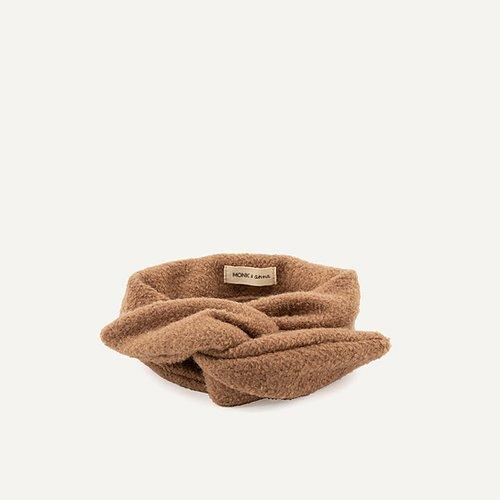 MONK & ANNA HAARBAND WOOL CACAO - Sausebrause Shop