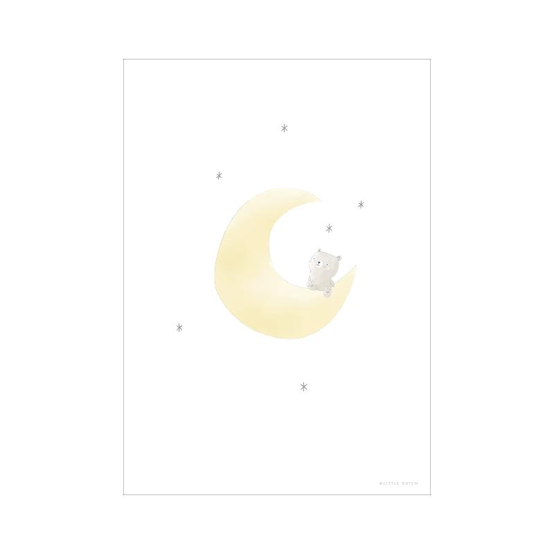 POSTER A3 BEAR ON THE MOON - Sausebrause Shop
