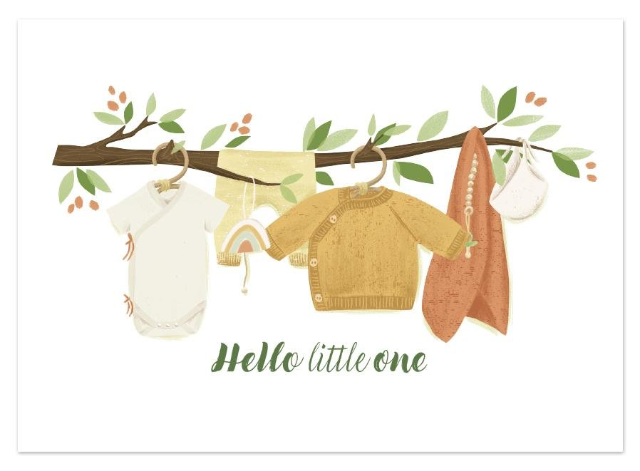 POSTKARTE HELLO LITTLE ONE - Sausebrause Shop
