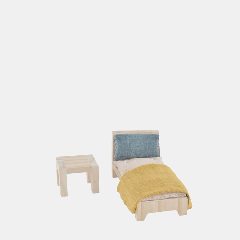 "PUPPENHAUSMÖBEL ""HOLDIE SINGLE BED SET"" - Sausebrause Shop"