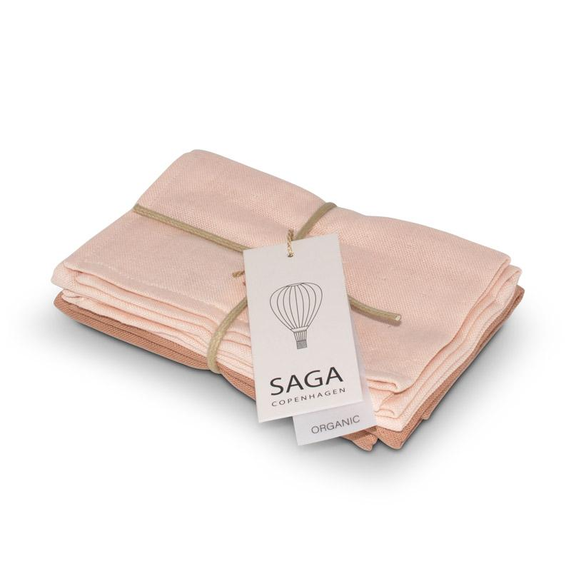 SAGA COPENHAGEN WASCHLAPPEN MIX // DUSTY CORAL 4-ER SET - Sausebrause Shop