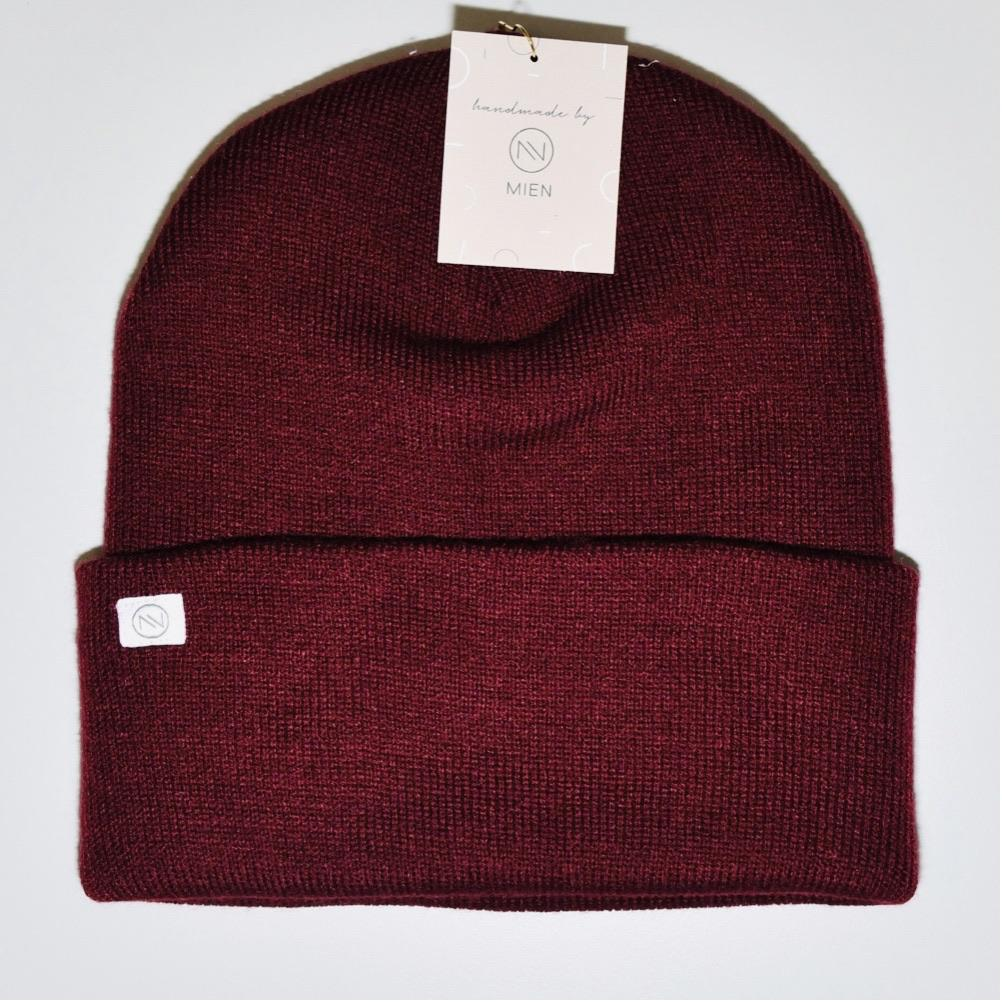 STRICKBEANIE BURGUNDY // MIEN BERLIN - Sausebrause Shop