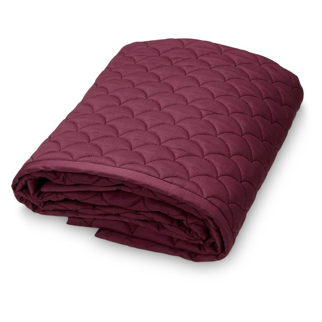 TAGESDECKE BABY QUILT WAVE BORDEAUX - Sausebrause Shop