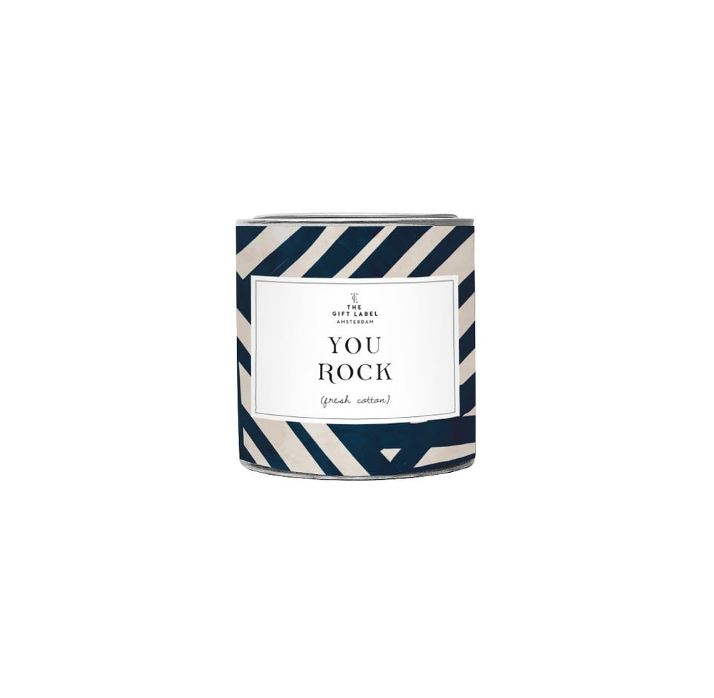 THE GIFT LABEL KERZE FRESH COTTON SMALL // YOU ROCK - Sausebrause Shop