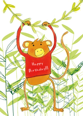HAPPY BIRTHDAY MONKEY - Greeting Card