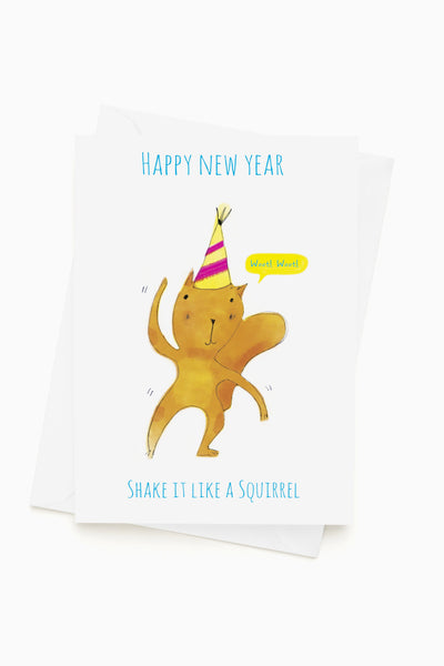 SQUIRREL HAPPY NEW YEAR - Greeting Card
