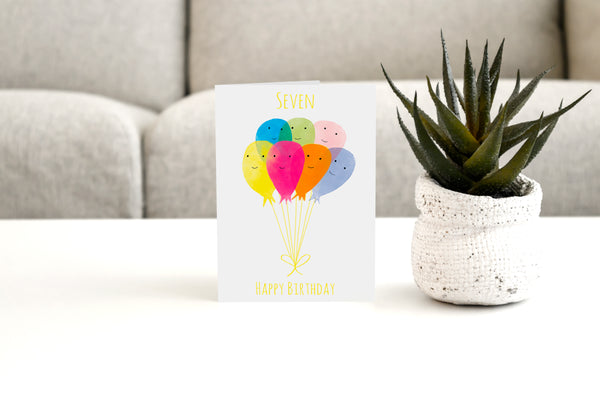 SEVEN - Greeting Card