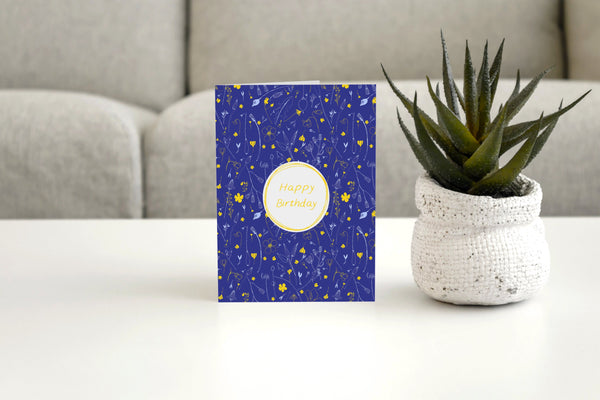 HAPPY BIRTHDAY FLORAL - Greeting Card
