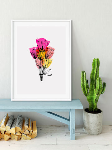 BOUQUET OF FLOWERS - Artist Print