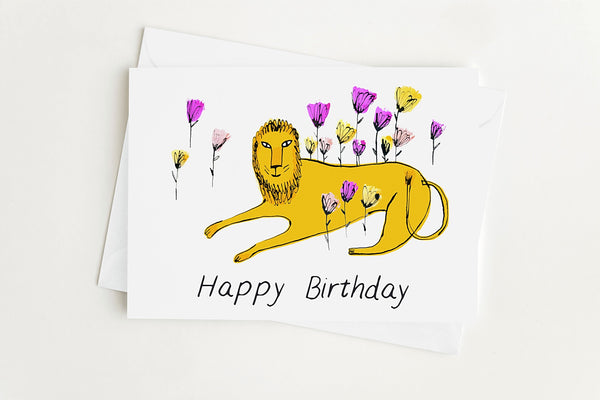 HAPPY BIRTHDAY LION - Greeting Card