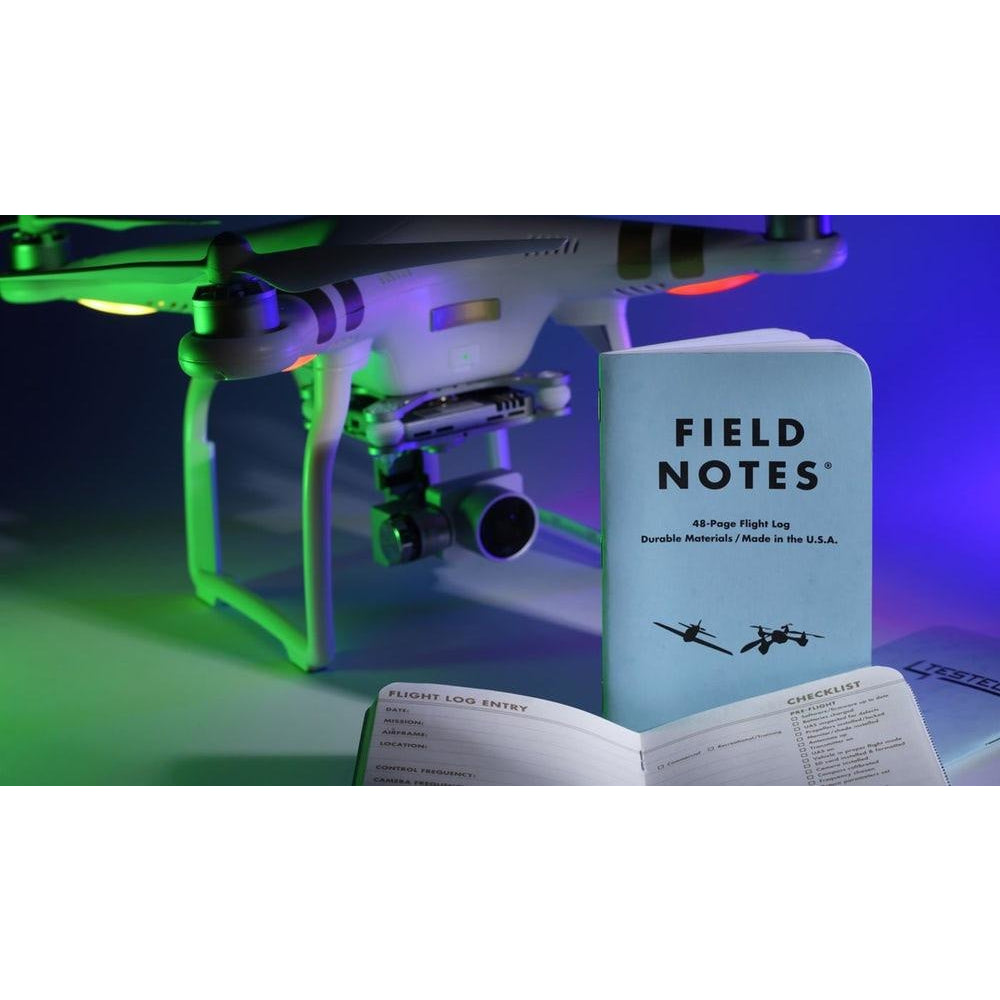 FIELD NOTES FLIGHT LOG NOTEBOOK 3 PACK FN-26 - Drone Flight Log