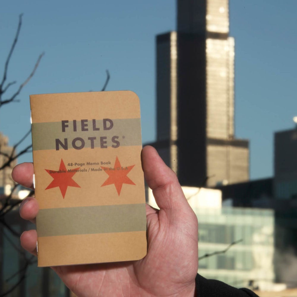 Field Notes FN-28. Chicago Home Town Series Edition 3 pack. 48 pages. Graph Paper.