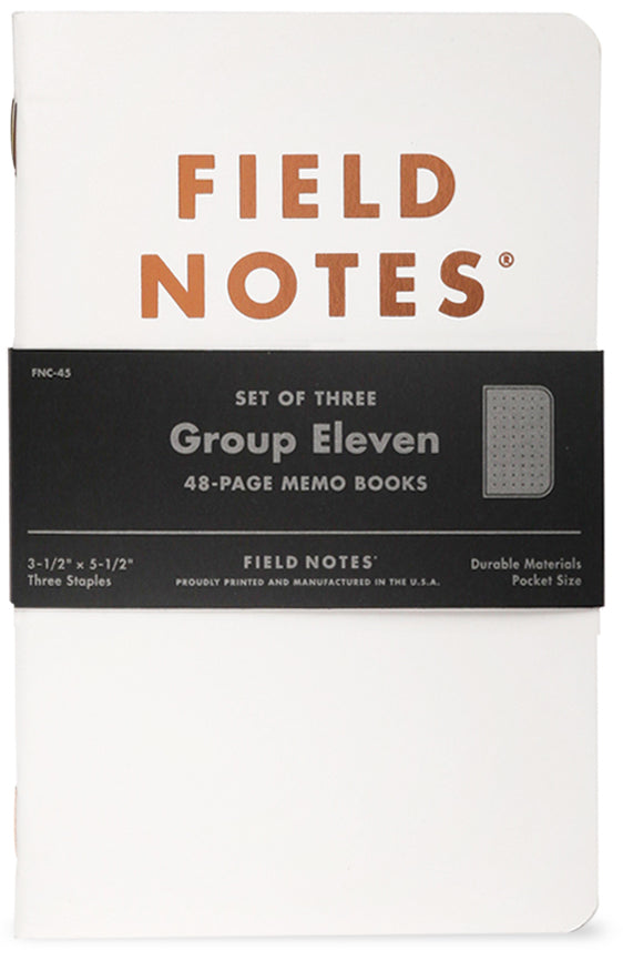 FIELD NOTES GROUP ELEVEN SET OF THREE MEMO BOOKS FNC-45- FIELD NOTES