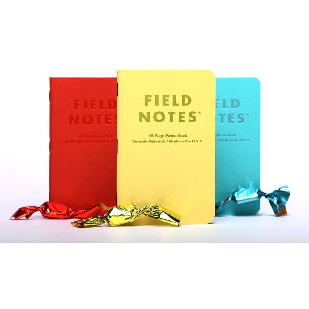 Field Notes FNC-30 Sweet tooth candy coloured perforated 48 sheet plain memo book