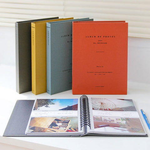 ICONIC VINTAGE PHOTO ALBUM (Available in Blue, Grey, Orange, Yellow) - Photo Album