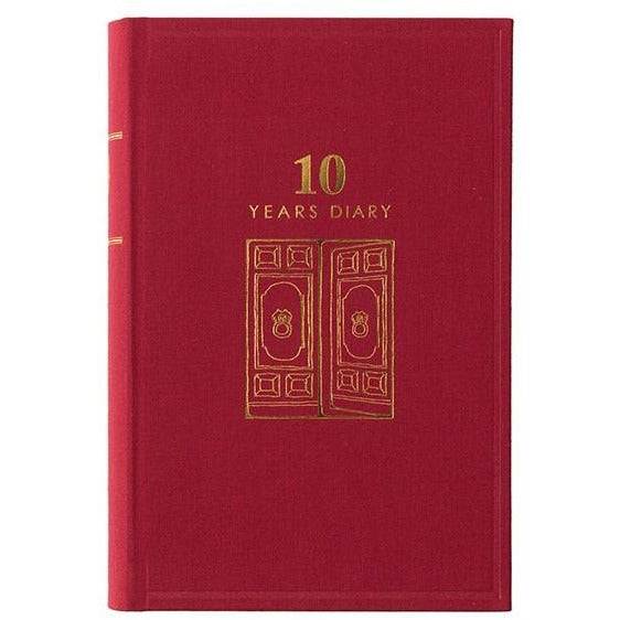 MIDORI JAPAN 10 YEAR DIARYNAVY or RED - Diary