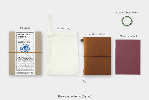 TRAVELER'S COMPANY, JAPAN. STARTER KIT / PASSPORT SIZE (CAMEL)