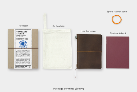 TRAVELER'S COMPANY, JAPAN. STARTER KIT / PASSPORT SIZE (BROWN)