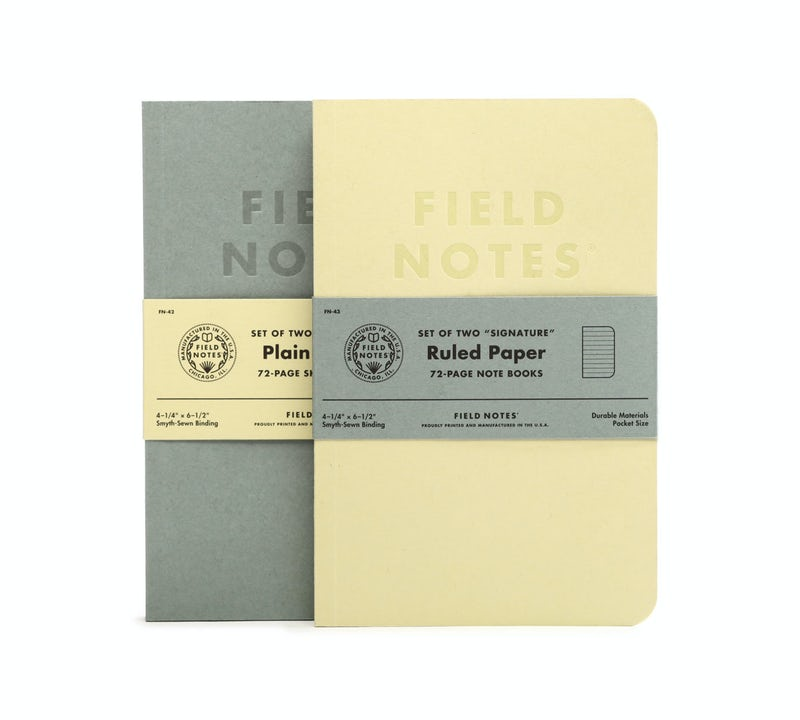 FIELD NOTES SIGNATURE RULED PAPER (PACK of TWO) FN-43