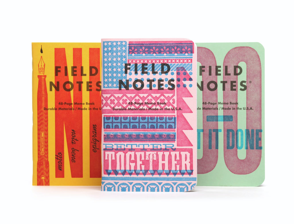 FIELD NOTES UNITED STATES OF LETTERPRESS NOTEBOOK 3 PACK FNC-48C (GRAPH) - Field Notes Notebooks