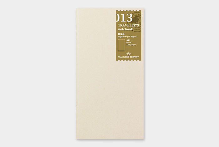 TRAVELER'S NOTEBOOK. 013 LIGHTWEIGHT PAPER NOTEBOOK