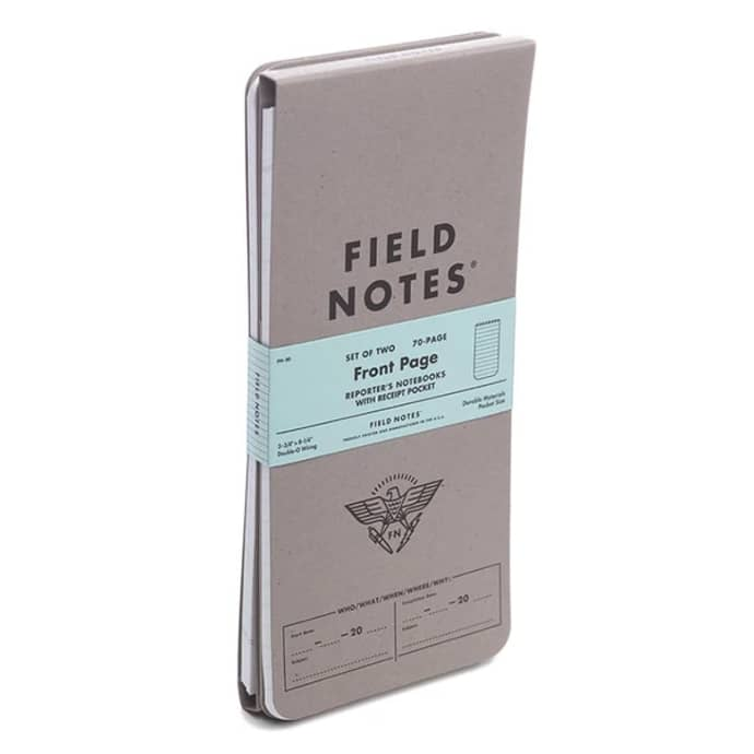 FIELD NOTES PACK OF TWO REPORTERS NOTEBOOKS WITH RECEIPT POCKET FN-30- FIELD NOTES