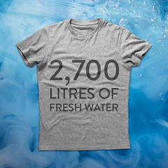A cotton t-shirt can take 2700 litres of water to make