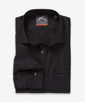 Merino Shirt – Hardvark Retiring Voyager Merino Wool Shirt Black Folded
