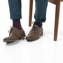 Merino Wool Socks – Hardvark Raspberry Chocolate Portland Merino Wool Socks With Brogue Shoes