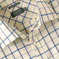 Merino Wool Travel Shirt - Voyager Merino Wool Shirt Royal Tattersall