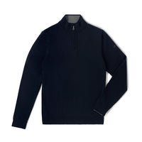 Performance Merino Sweater – Hardvark Navy Revelstoke Merino Wool Half Zip Sweater Flat
