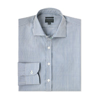 Merino Wool Dress Shirt – Hardvark Everyday Shirt in Blue Devon Stripe
