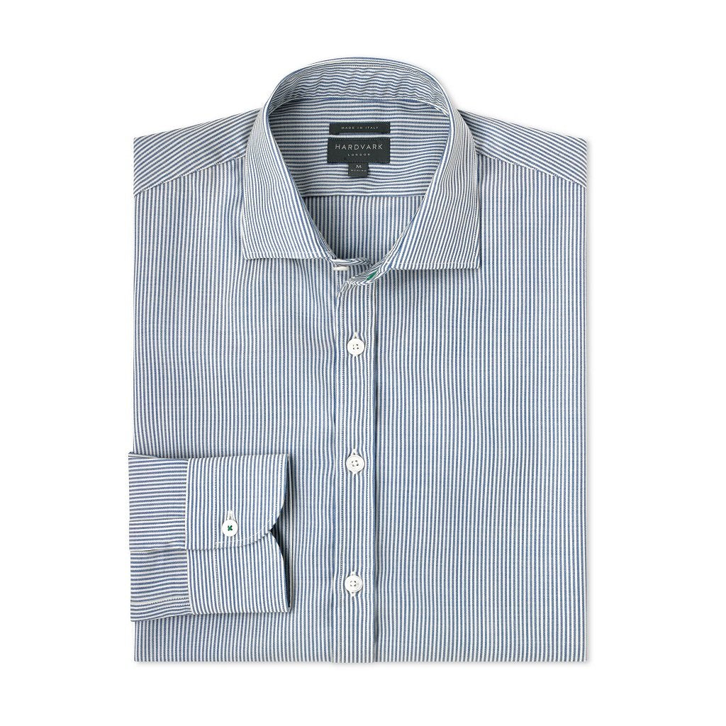 Merino Wool Dress Shirt – Hardvark Everyday Shirt in Blue Sussex Gingham