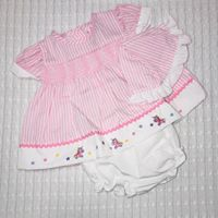 Sweet Elegance, 3 Piece Pink Stripe Dress Set