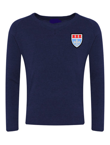 St Mary's Catholic School - Newcastle Navy V-Neck Jumpers