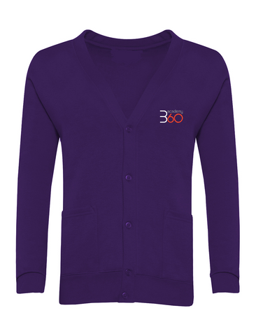 Academy 360 Purple Cardigan