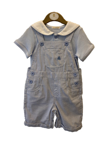 Baby Blue Boys Mintini Baby Dungaree Set