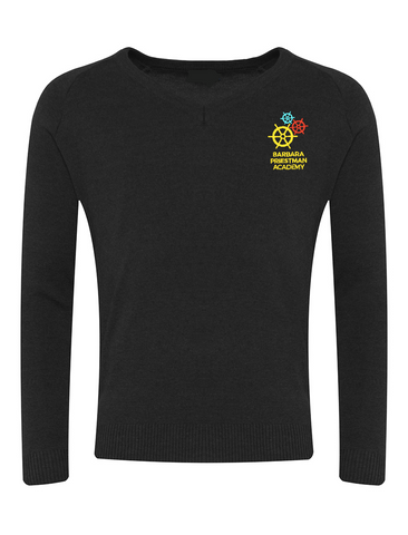 Barbara Priestman Academy Black V-Neck Jumper