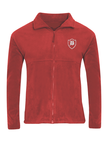Barnes Infant Academy Red Fleece Jacket