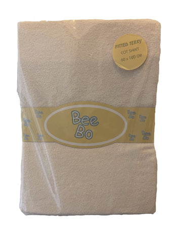 Bee Bo, Cream Fitted Terry Cot Sheet