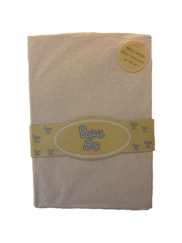 Bee Bo Pram/ Moses Basket Terry Fitted Sheets