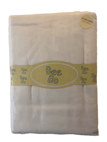 Bee Bo, Pack Of 2 White Flat Cot Bed Sheets