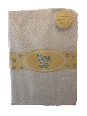 Bee Bo White Pram/Moses Basket Fitted Sheet