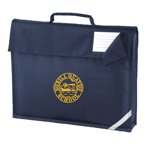 Bill Quay Primary School Navy Book Bag