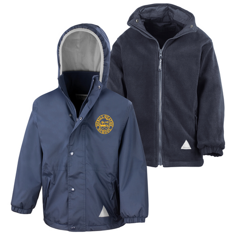 Bill Quay Primary School Navy Waterproof Coat