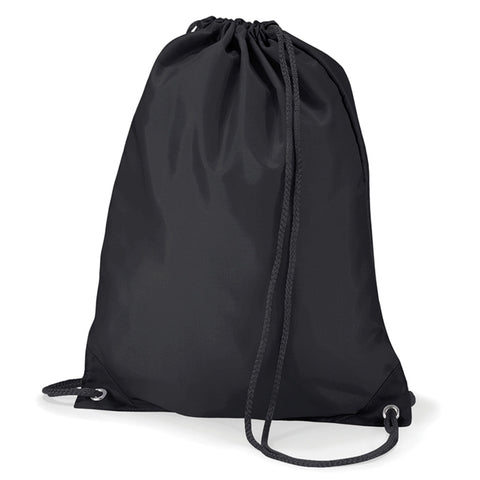 Black Quadra Draw String Gym Bag