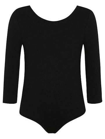 Black 3/4 Sleeve Leotard